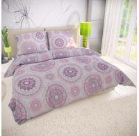 Klasické posteľné bavlnené obliečky MANILA fialová 140x200, 70x90cm