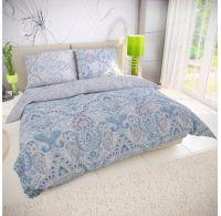Klasické posteľné bavlnené obliečky PALIZA modrá 140x200, 70x90cm