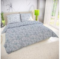 Klasické posteľné bavlnené obliečky RAVEN zelené 140x200, 70x90cm