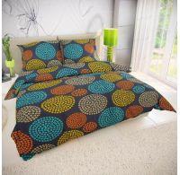 Klasické posteľné bavlnené obliečky VIVA tmavo sivá 140x200, 70x90cm