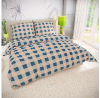 Klasické posteľné flanelové obliečky 140x200, 70x90cm LIMA modrá