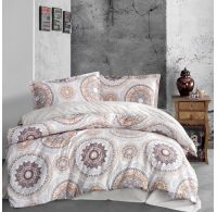 Klasické posteľné flanelové obliečky 140x200, 70x90cm MANILA béžová