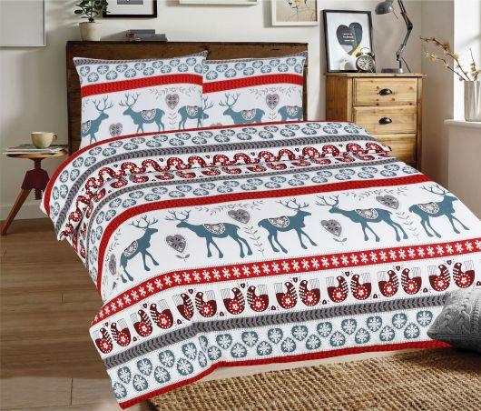 Klasické posteľné flanelové obliečky 140x200, 70x90cm SOBI sivé