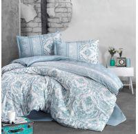 Klasické posteľné flanelové obliečky 140x200, 70x90cm TURKA zelená