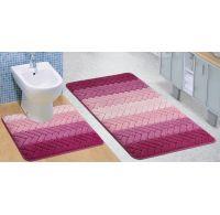 Kúpeľňová a WC predložka Artes ružová