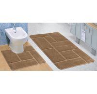 Kúpeľňová a WC predložka béžová múr