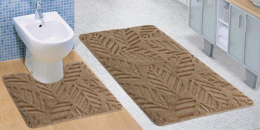 Kúpeľňová a WC predložka béžový jeseň