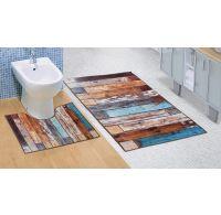 Kúpeľňová a WC predložka Drevená podlaha 3D