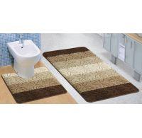 Kúpeľňová a WC predložka Helga hnedá