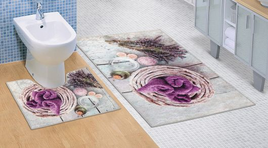 Kúpeľňová a WC predložka Levanduľa 3D