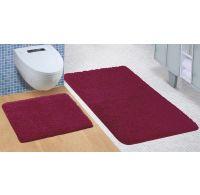 Kúpeľňová a WC predložka Micro bordó