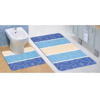 Kúpeľňová a WC predložka modrý orion