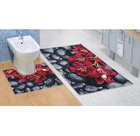 Kúpeľňová a WC predložka Orchidea 3D