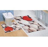 Kúpeľňová a WC predložka Svetlé kamene 3D