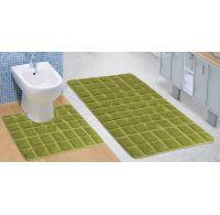 Kúpeľňová a WC predložka zelený mach
