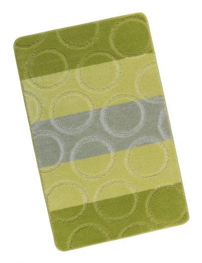 Kúpeľňová predložka 60x100cm zelené krúžky