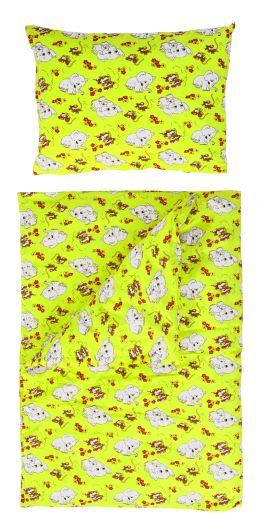 Posteľné obliečky bavlna do detskej postieľky Slony zelení