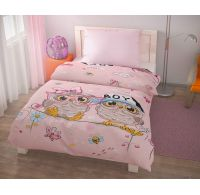 Posteľné obliečky pre mladých 140x200, 70x90cm PUHU ružové