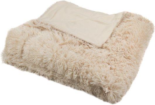 Luxusná deka s dlhým vlasom 150x200cm BÉŽOVÁ