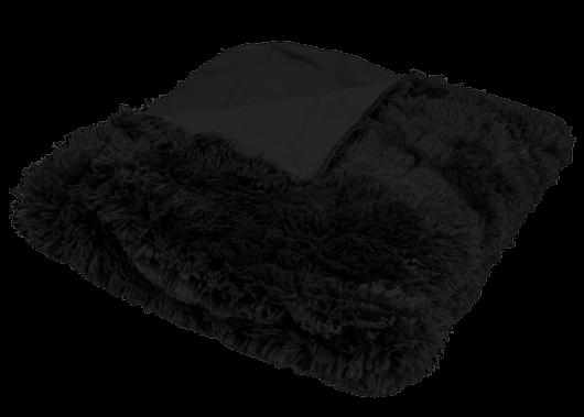 Luxusná deka s dlhým vlasom 150x200cm ČIERNA