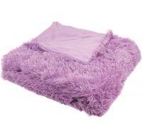 Luxusná deka s dlhým vlasom 150x200cm FIALOVÁ