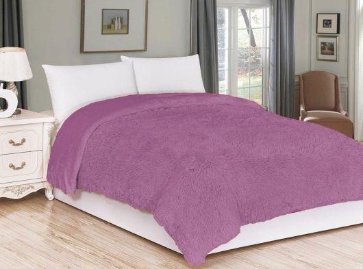 Luxusná deka s dlhým vlasom 200x230cm FIALOVÁ