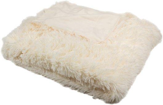 Luxusná deka s dlhým vlasom 150x200cm SMOTANOVÁ