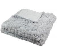 Luxusná deka s dlhým vlasom 150x200cm SVETLO SIVÁ