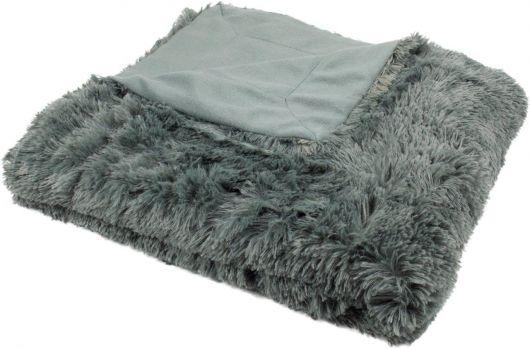 Luxusná deka s dlhým vlasom 150x200cm TMAVO SIVÁ