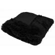 Luxusná deka s dlhým vlasom 200x230cm ČIERNA