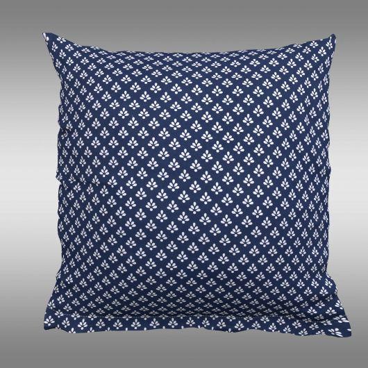 Obliečka na vankúš bavlnený Canzone modré puntík