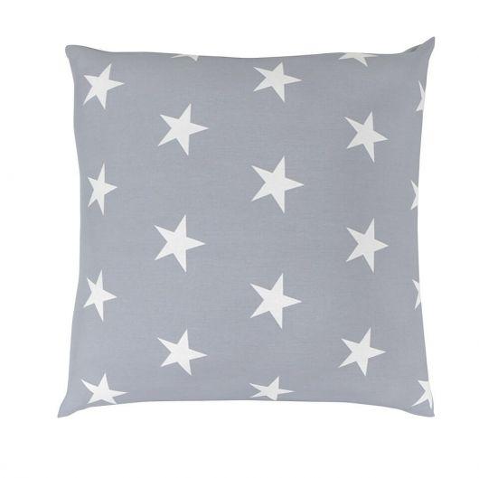 Obliečka na vankúš hladká bavlna DELUX STARS sivé