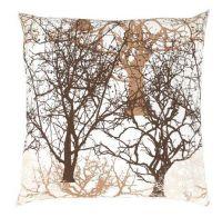 Obliečka na vankúš hladká bavlna DELUX TREES