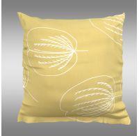 Obliečka na vankúš hladká bavlna GRACE žltá