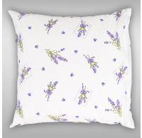 Povlak na polštář hladká bavlna PROVENCE - Lavender bílá
