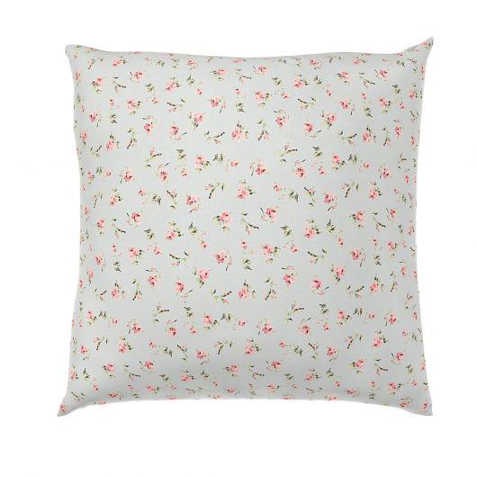 Obliečka na vankúš hladká bavlna PROVENCE ROSE zelené reverse