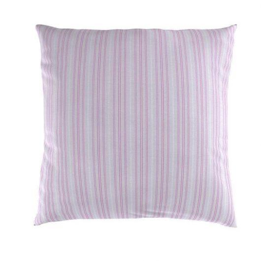 Obliečka na vankúš hladká bavlna PROVENCE VIENTO ružové reverse