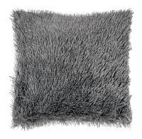 Obliečka na vankúš s dlhým vlasom TMAVO SIVÝ