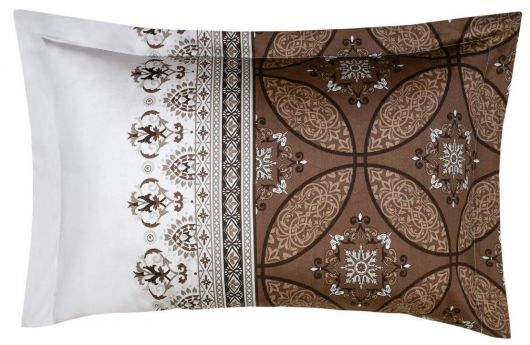 Obliečka na vankúš saténová panel IVORE hnedé