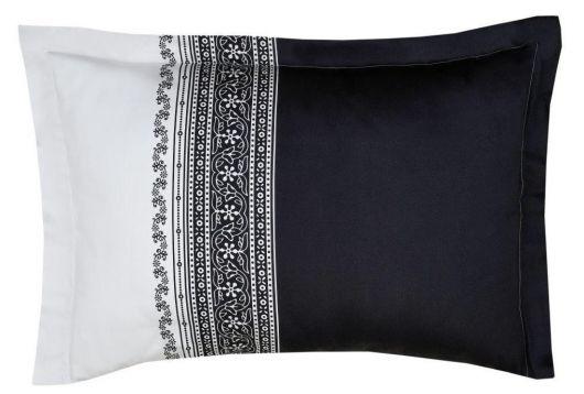 Obliečka na vankúš saténová panel NOBEL čiernobiely
