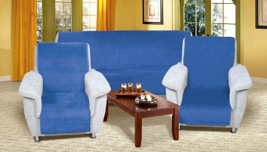 Prikrývka na sedaciu súpravu Micro 3+1+1 modrá