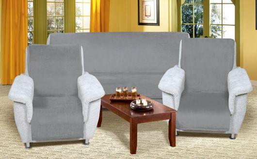 Prikrývka na sedaciu súpravu Micro 3+1+1 sivá