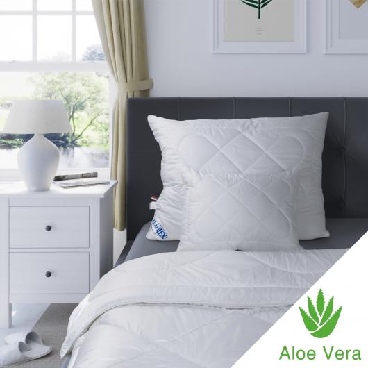 Predĺžená thermo perina Aloe vera 140x220cm zimna biela
