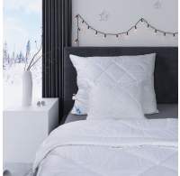 Predĺžená thermo perina Luxus plus 140x220cm zimna biela