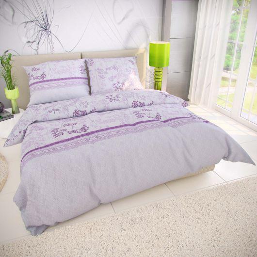 Predĺžené bavlnené obliečky 140x220, 70x90cm LAVENDA fialová
