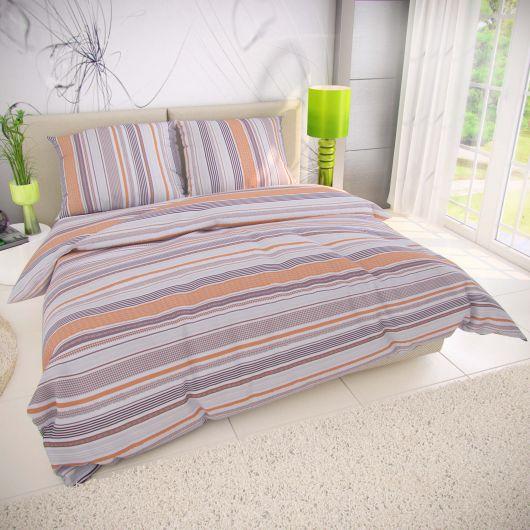 Predĺžené bavlnené obliečky 140x220, 70x90cm VENTA béžová