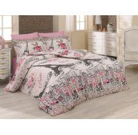 Predľžené bavlnené posteľné obliečky DELUX FRANCE 140x220, 70x90cm