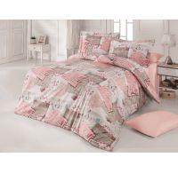 Predľžené bavlnené posteľné obliečky DELUX LOVE LETTER 140x220, 70x90cm
