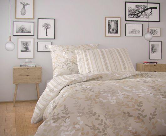 Predĺžené bavlnené obliečky NORDIC COLLECTION 140x220, 70x90cm ASTRID