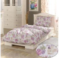 Predĺžené bavlnené obliečky PROVENCE COLLECTION 140x220, 70x90cm Leontýna ružová